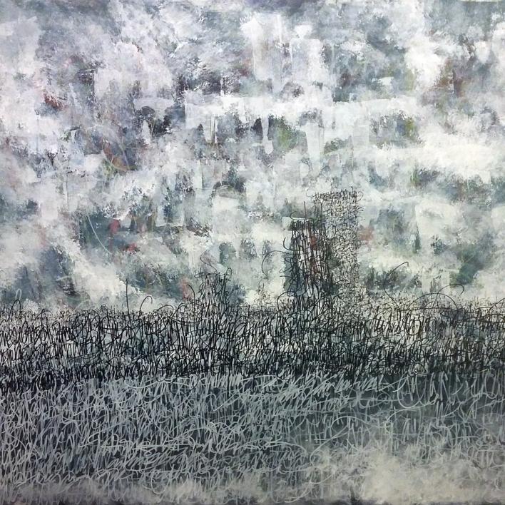 Babel 2.0  Pintura de Jorge Regueira   Compra arte en Flecha.es