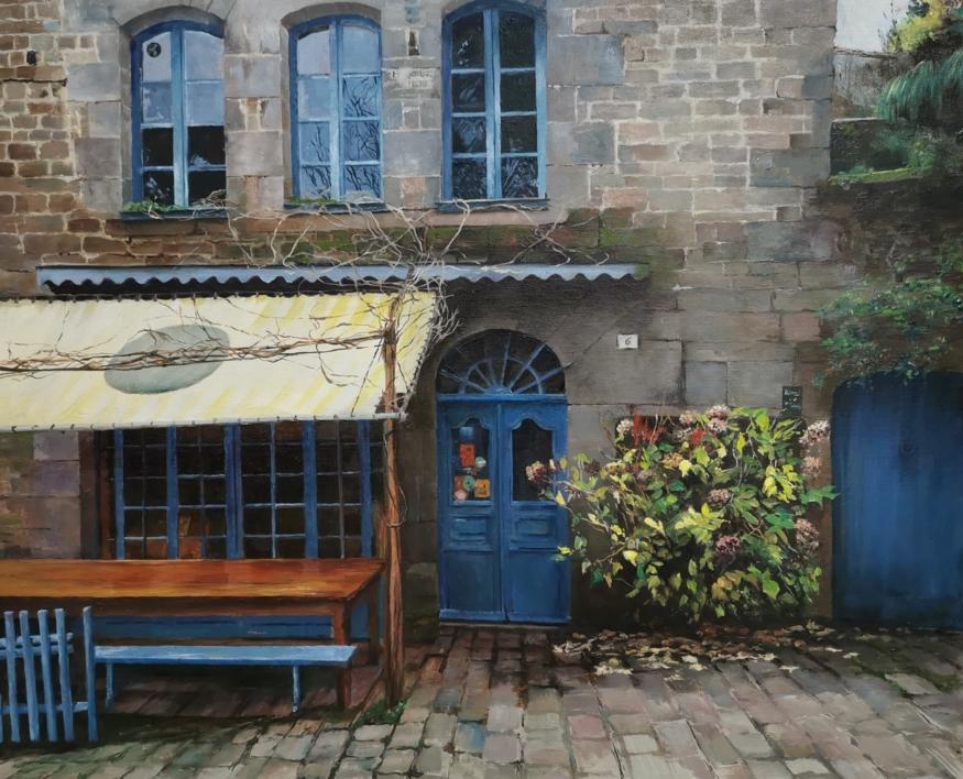 Dinan-Bretaña |Pintura de Carmen Nieto | Compra arte en Flecha.es