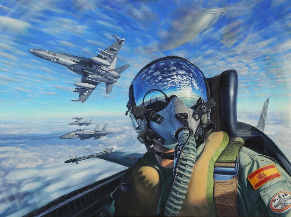Blindando el Aire  Pintura de Javier Ramos Julián   Compra arte en Flecha.es