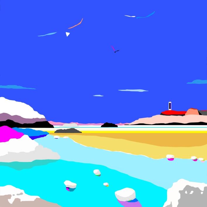 Playa del río |Obra gráfica de ALEJOS | Compra arte en Flecha.es