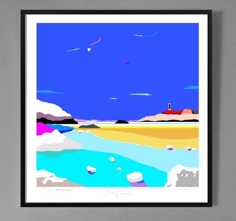 Playa del río | Obra gráfica de ALEJOS | Compra arte en Flecha.es