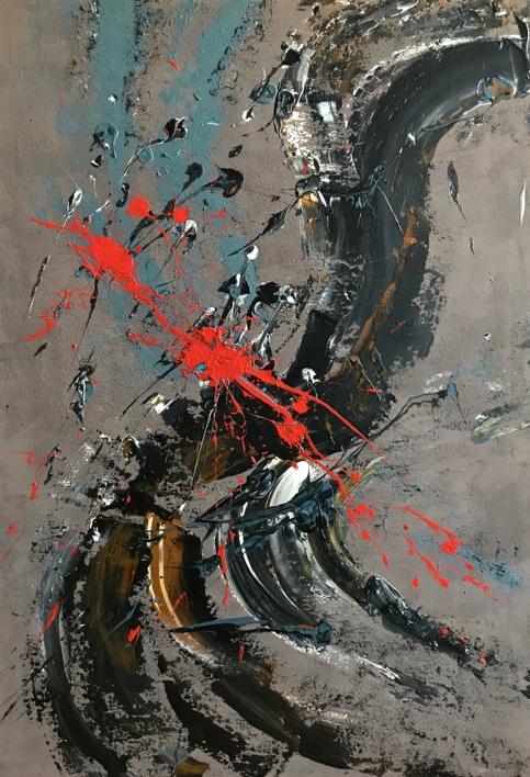 FUEGO Y TIERRA |Pintura de ALFREDO MOLERO DOVAL | Compra arte en Flecha.es