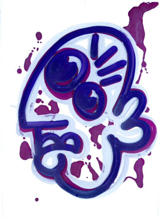 Purple Picasso Fisk |Pintura de Jakob Fisk | Compra arte en Flecha.es