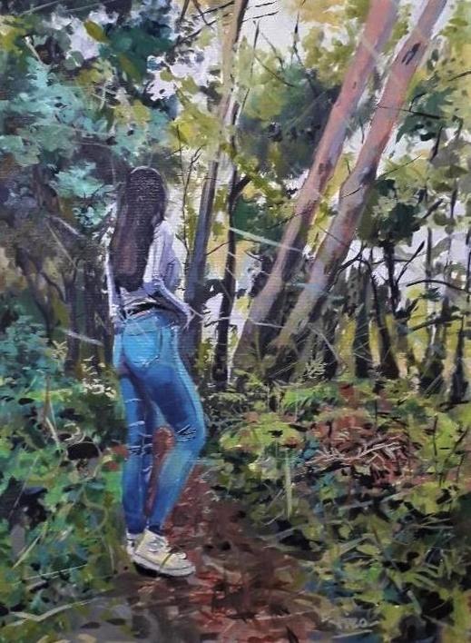 En el Bosque |Pintura de Amaya Fernández Fariza | Compra arte en Flecha.es