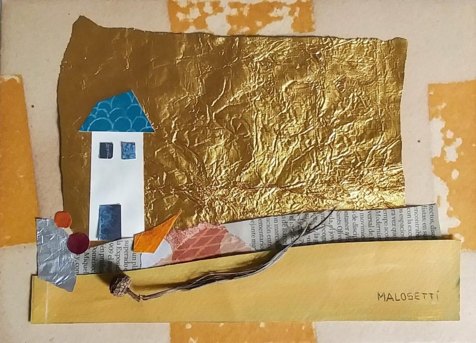 S/T de la Serie Cuarentena  Collage de ANALIA MALOSETTI   Compra arte en Flecha.es