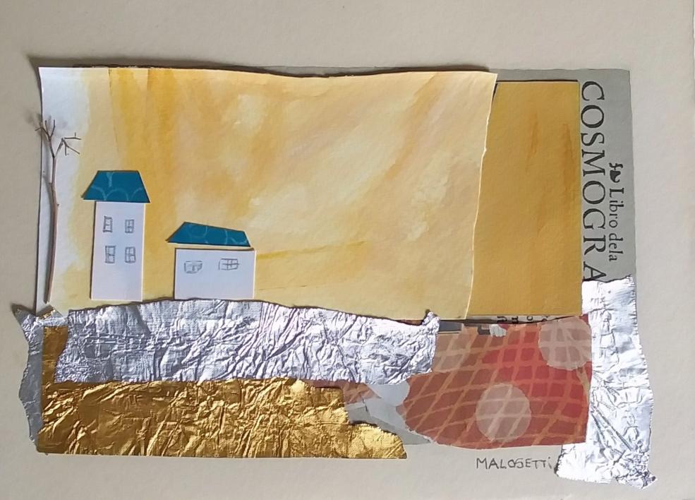 S/T de la Serie Cuarentena |Collage de ANALIA MALOSETTI | Compra arte en Flecha.es