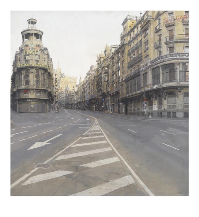 Gran Vía |Digital de Antonio López | Compra arte en Flecha.es