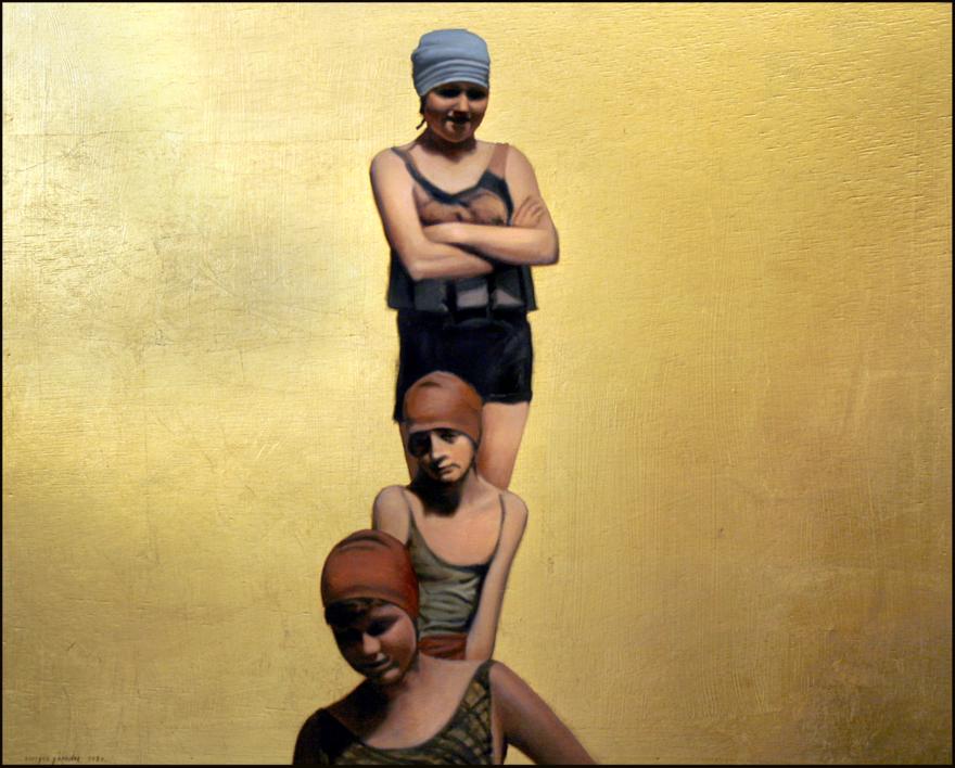 Tres bañistas |Dibujo de Enrique González | Compra arte en Flecha.es