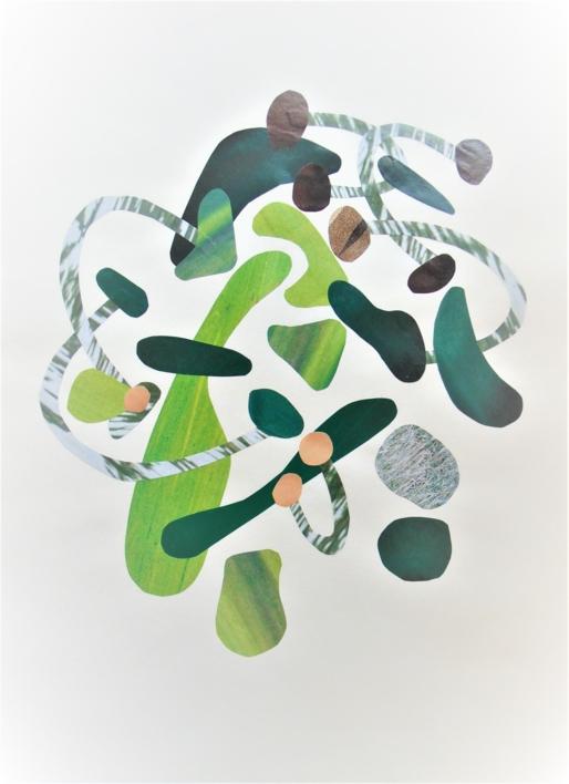 Verde #1  Collage de Fabiana Zapata   Compra arte en Flecha.es