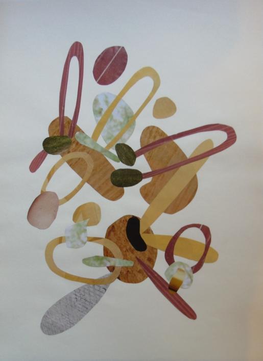 Mapografia caramelo |Collage de Fabiana Zapata | Compra arte en Flecha.es