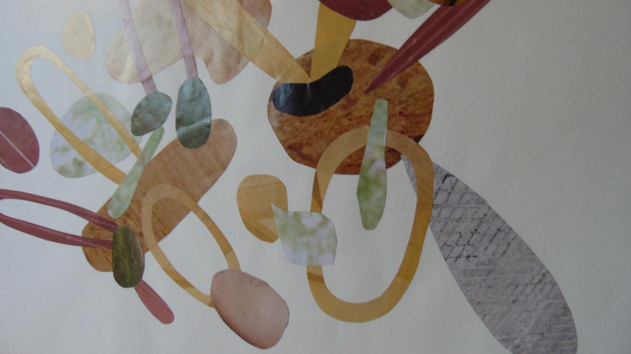 Mapografia caramelo | Collage de Fabiana Zapata | Compra arte en Flecha.es