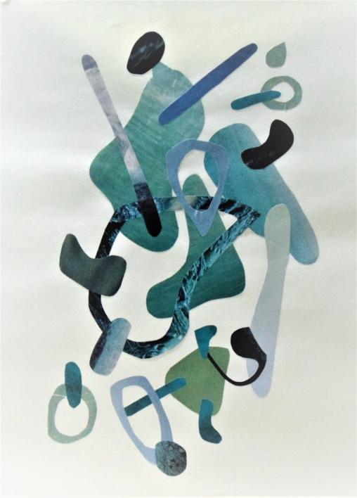 Mapografia laguna |Collage de Fabiana Zapata | Compra arte en Flecha.es