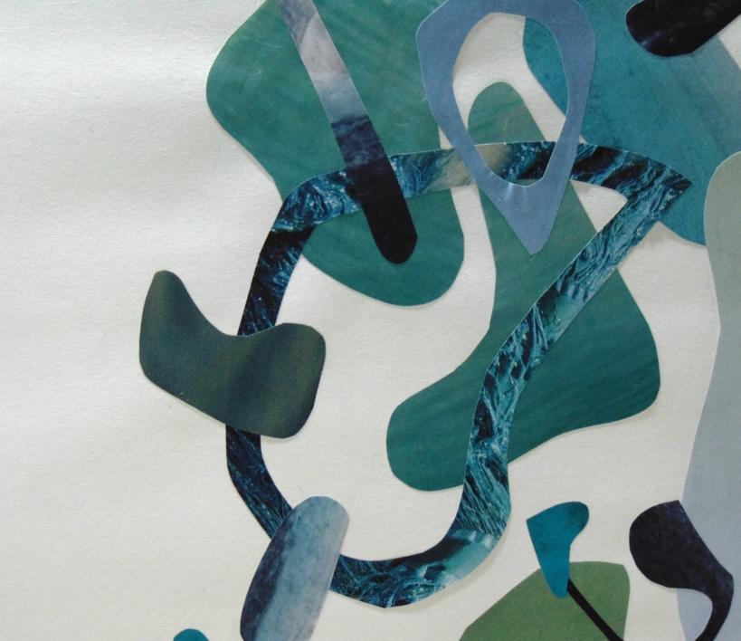 Mapografia laguna | Collage de Fabiana Zapata | Compra arte en Flecha.es