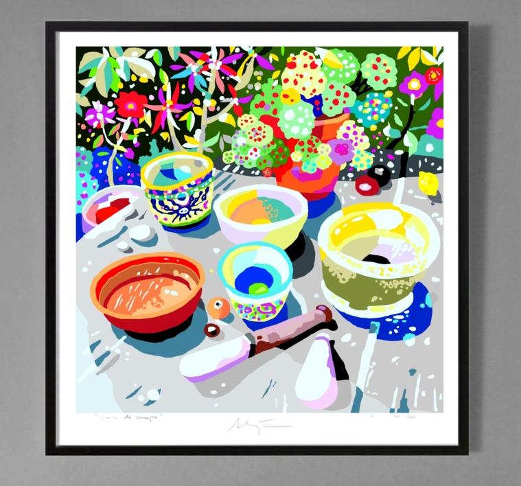 La mesa de cultivo de semillas de luz | Obra gráfica de ALEJOS | Compra arte en Flecha.es
