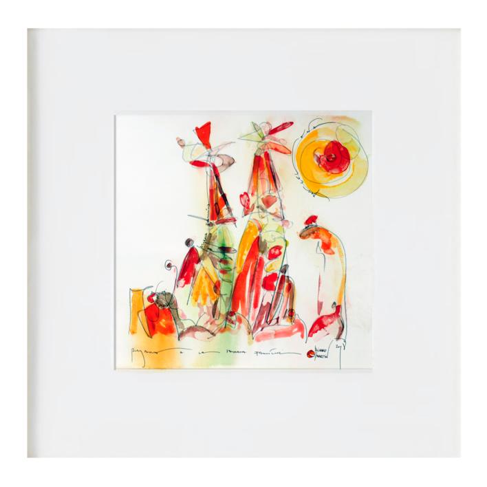 Curvisme - 147 - Sagrada Família |Obra gráfica de RICHARD MARTIN | Compra arte en Flecha.es