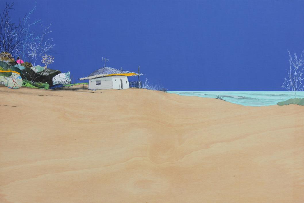 Un lugar intenso |Collage de Eduardo Query | Compra arte en Flecha.es