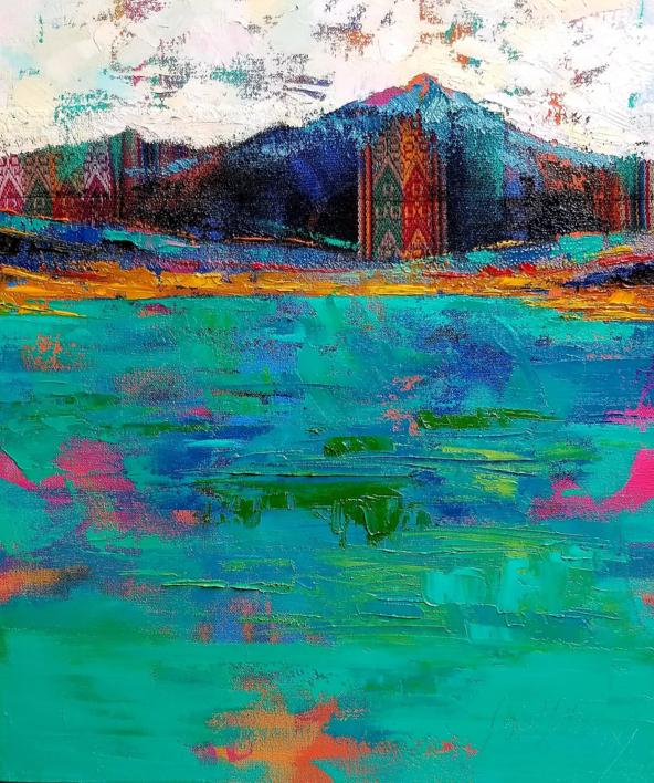 Deconstrucción de un Paisaje Andino |Pintura de Gossediletto | Compra arte en Flecha.es