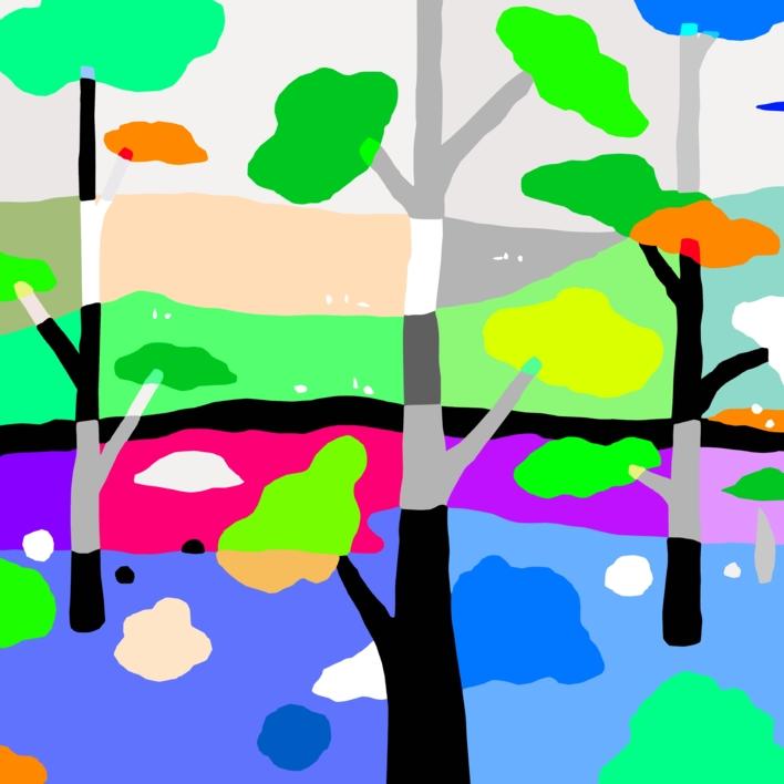 El pinar de los enanos 2 |Dibujo de ALEJOS | Compra arte en Flecha.es