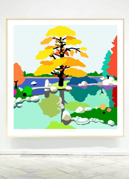 El pequeño puente | Dibujo de ALEJOS | Compra arte en Flecha.es