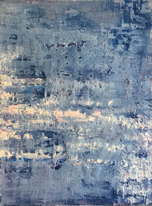Azul matérico  Pintura de Enric Correa   Compra arte en Flecha.es