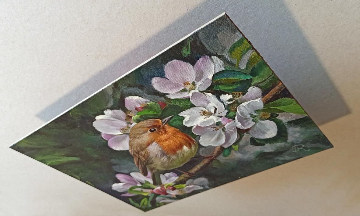 Petirrojo   Pintura de Javier Ramos Julián   Compra arte en Flecha.es