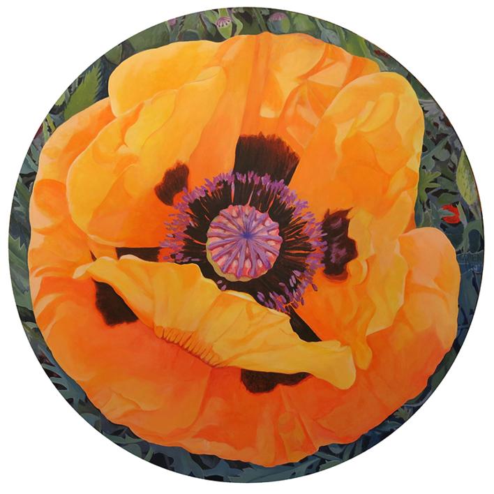 """Amapola circular"" |Pintura de Carmen Varela | Compra arte en Flecha.es"