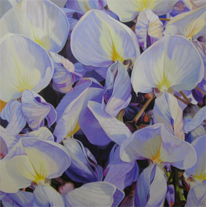 Glicinas |Pintura de Carmen Varela | Compra arte en Flecha.es