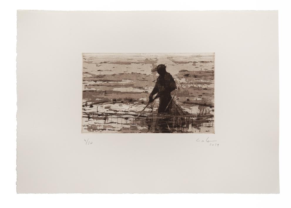 Pescador de Bagamoyo N 6 |Obra gráfica de Calo Carratalá | Compra arte en Flecha.es