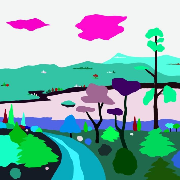 Paseo otoñal |Dibujo de ALEJOS | Compra arte en Flecha.es
