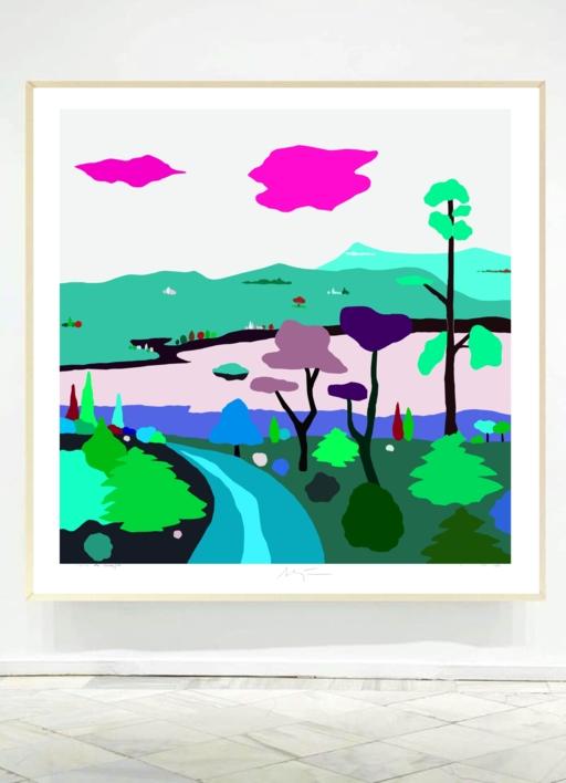 Paseo otoñal | Dibujo de ALEJOS | Compra arte en Flecha.es