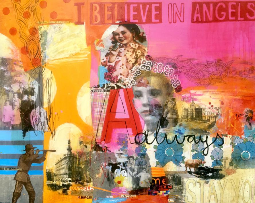 I believe in angels |Collage de María Burgaz | Compra arte en Flecha.es