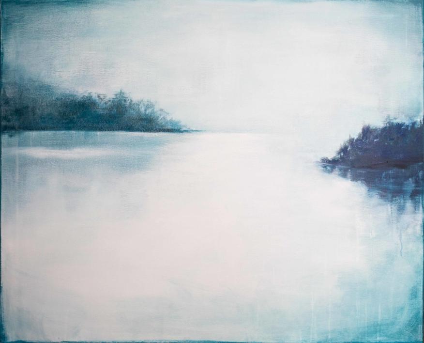Blue mist |Pintura de Lucia Garcia Corrales | Compra arte en Flecha.es