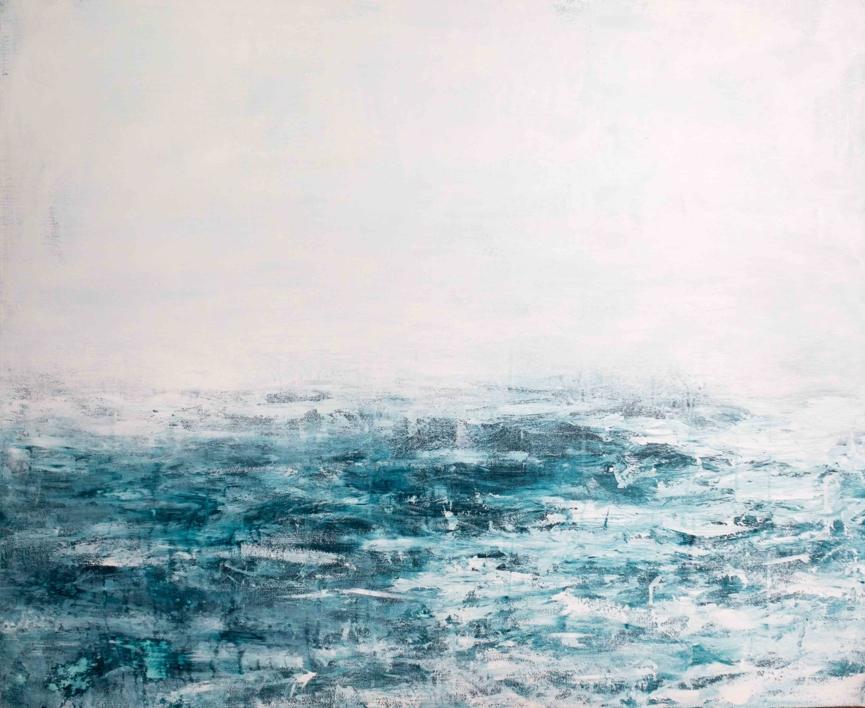 Water in the fog |Pintura de Lucia Garcia Corrales | Compra arte en Flecha.es
