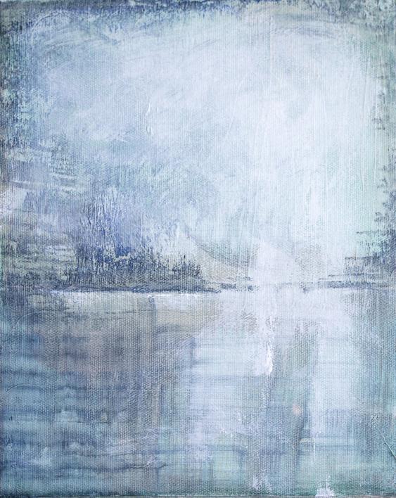 Frozen water IV  Pintura de Lucia Garcia Corrales   Compra arte en Flecha.es