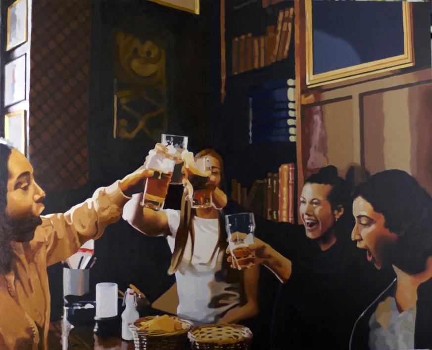 brindis |Pintura de Jose Belloso | Compra arte en Flecha.es