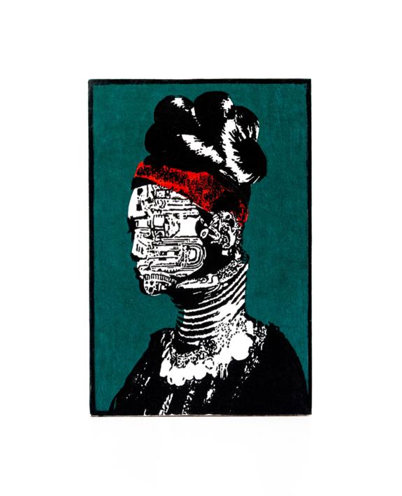 Tribu Kayan | Collage de Alicia Calbet | Compra arte en Flecha.es
