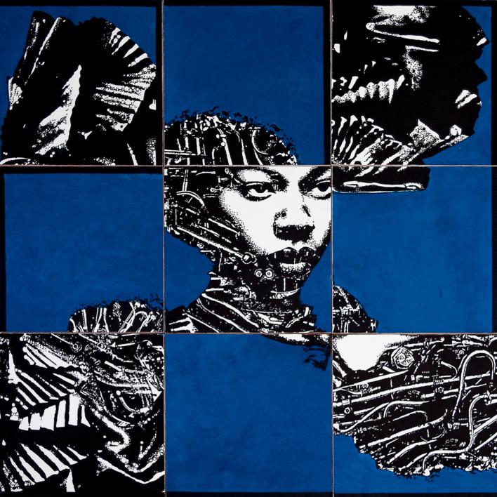 Construcción 7   Collage de Alicia Calbet   Compra arte en Flecha.es