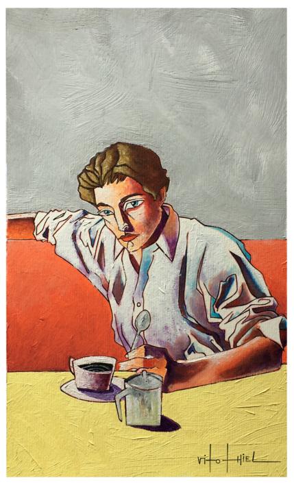 A Coffe |Ilustración de Vito Thiel | Compra arte en Flecha.es