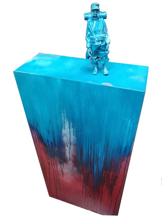Mi  tropa es reducida, pero muy entusiasta.  Escultura de Reula   Compra arte en Flecha.es