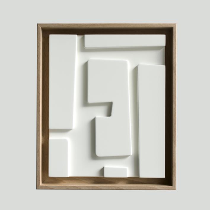 Blanco sobre blanco_04 |Escultura de pared de Candela Muniozguren | Compra arte en Flecha.es