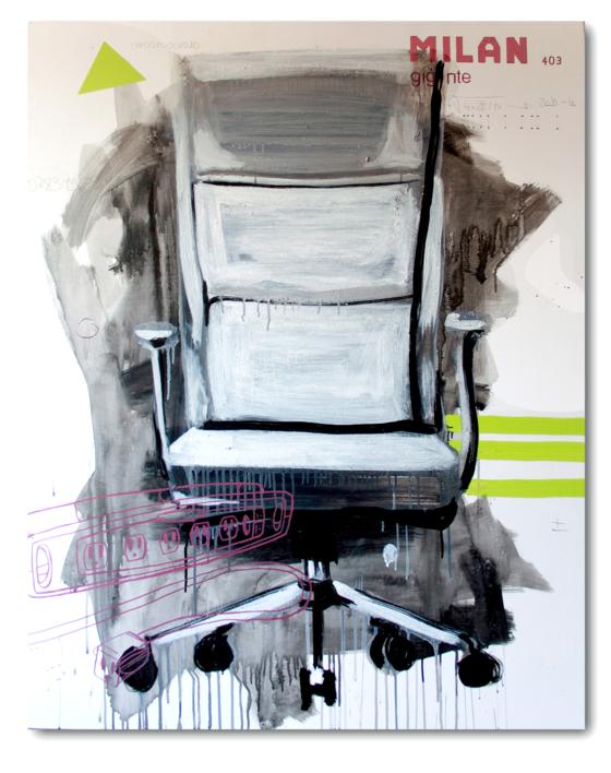 The office # la silla |Pintura de Alejandra de la Torre | Compra arte en Flecha.es