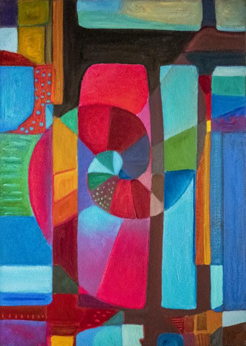 Variaciones geométricas II |Pintura de Helena Revuelta | Compra arte en Flecha.es