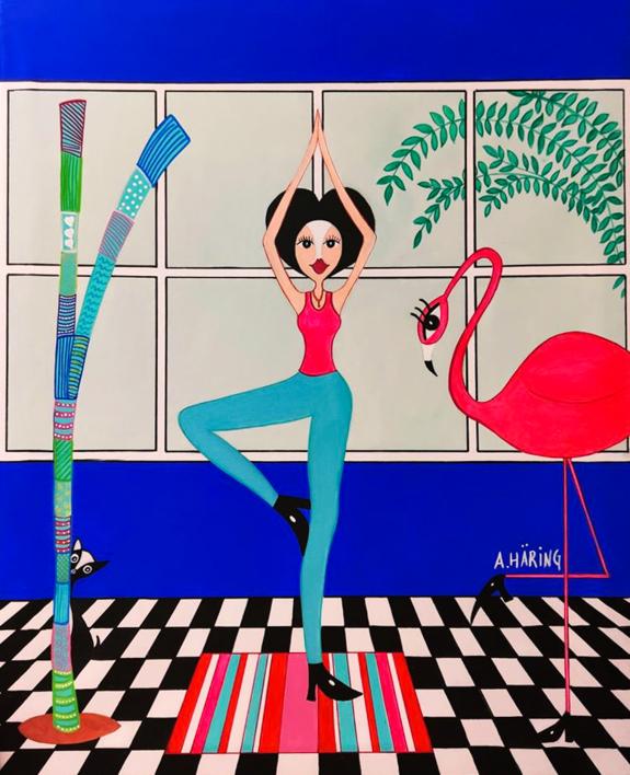 Matilda Yoguini |Pintura de Ángela Fernández Häring | Compra arte en Flecha.es
