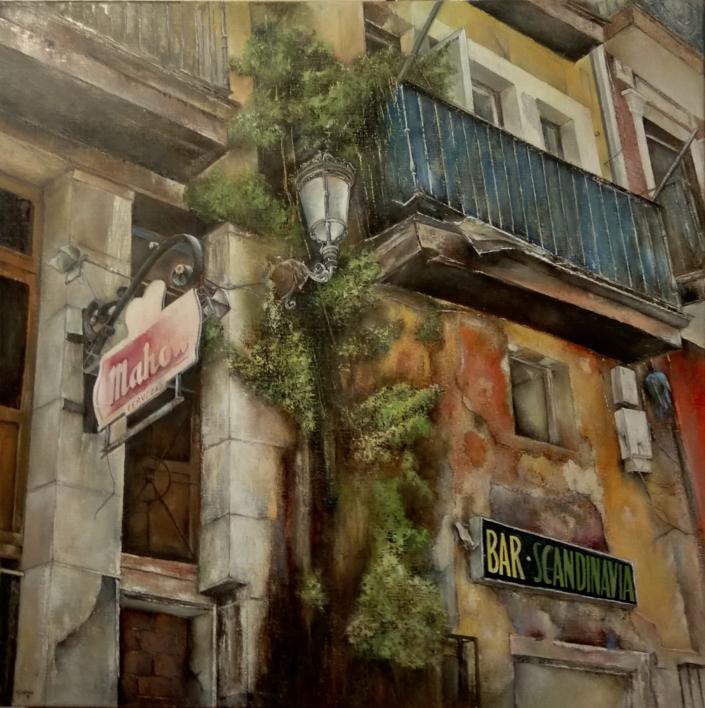 Cabildo de arriba- Santander |Pintura de TOMAS CASTAÑO | Compra arte en Flecha.es