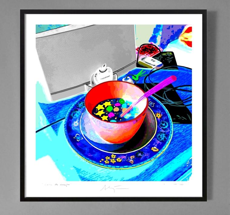 Bodegón con estrellas, galaxias, Magicstream y llaves   Dibujo de ALEJOS   Compra arte en Flecha.es