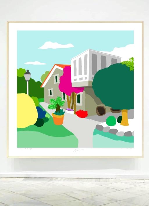 O Río | Ilustración de ALEJOS | Compra arte en Flecha.es