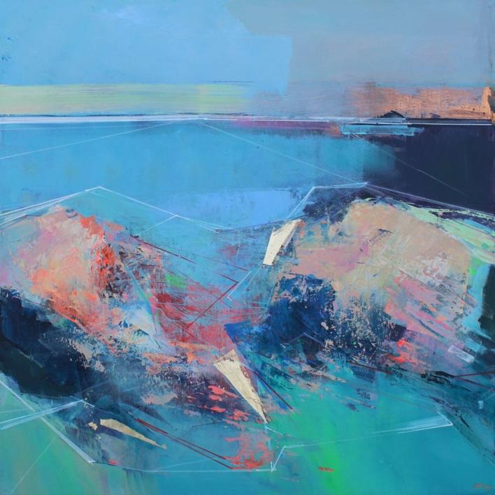 Rock Pools 2 |Pintura de Magdalena Morey | Compra arte en Flecha.es