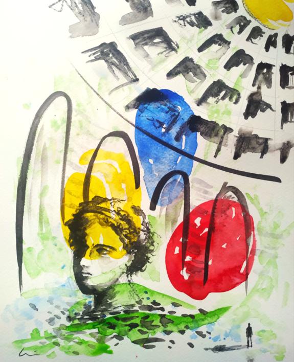 CIVILIZACIÓN |Dibujo de LuisQuintano | Compra arte en Flecha.es