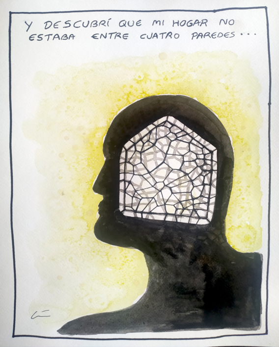 HOGAR |Dibujo de LuisQuintano | Compra arte en Flecha.es