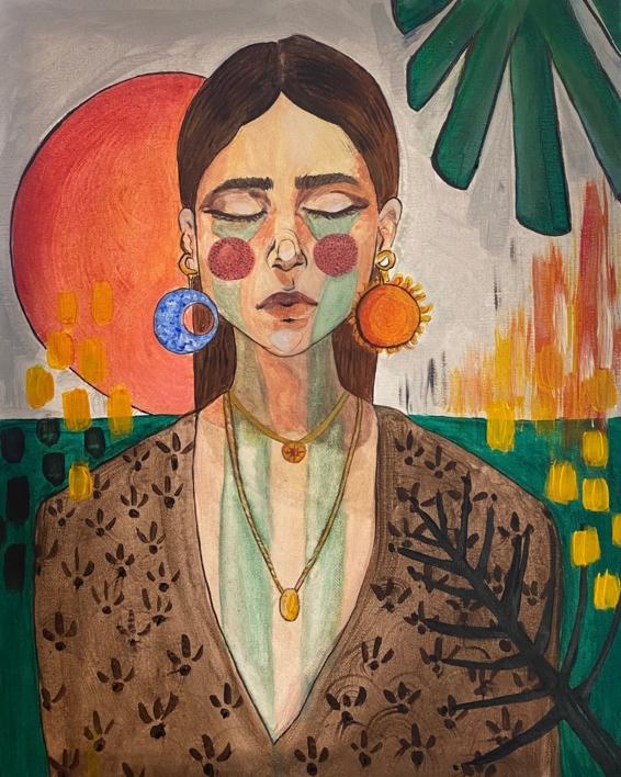 Llorona  Pintura de FEDERICA   Compra arte en Flecha.es